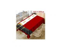 Nappe de noël imprimer rectangle table cover holiday party home decor 2244