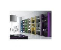 Etagère bibliothèque laqué design constentine, sept couleurs au choix