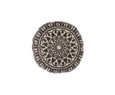 Coussin de sol ethnique nomade - diam. 50 cm - noir