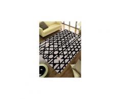 Tapis grand dimensions artisan pop noir 90 x 160 cm tapis de salon moderne design par esprit