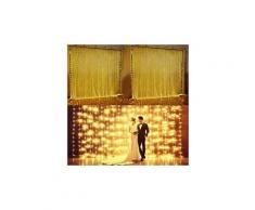 3mx3m rideau lumineux blanc chaud 300 led décoration de noël / fête/ mariage / soirée / anniversaire
