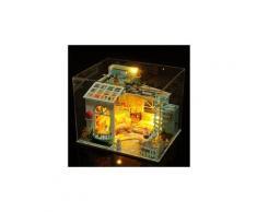 Maison miniature bricolage 3d en bois meubles led maison puzzle décorez cadeaux creative jouets éducatifs chaingzi 1450