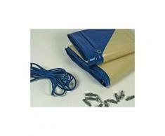 Bâche hiver pour piscine Toledo - 280 gr/m² - Bleu