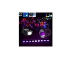 Pack fiesta uv - projecteur par38 + lampe uv 25w + barre led uv 9 x 3w + mini stroboscope