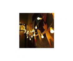 Guirlande lumineuse boule led 12m 100 ampoules 8 modes de fonctionnement blanc chaud [classe énergétique a+++]