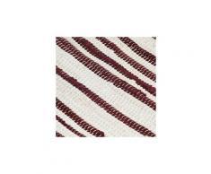 Icaverne - sets de table sublime napperons 6 pcs bordeaux et blanc 30 x 45 cm coton