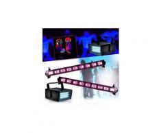 Spécial déco halloween réglettes néon lumière noir pack 3 jeux lumières 9x3w fluo +2 mini ledstrobe led