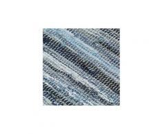 Icaverne - sets de table sublime napperons 4 pcs chindi denim bleu 30 x 45 cm coton