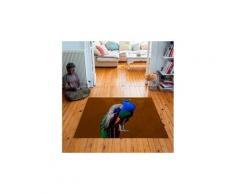 Tapis carré velours antidérapant imprimé animaux kelly - 135 x 135 cm