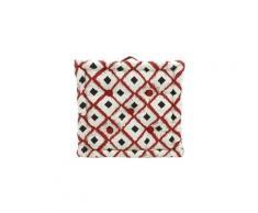 Icaverne coussin de sol - matelas de sol coussin de sol 100% coton imprimé boho 40x40cm - rouge