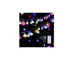 Guirlande lumineuses 100 boules led, imperméables multicolore