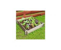 Carre potager - table potagere carré potager en sapin - 80 x 80 x h 20 cm