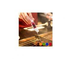 Thermomètre à piles pour cuisine - cuisson aide couleur - rouge