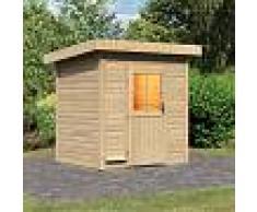 WoodFeeling Sauna d'extérieur JANA en bois massif 38mm 4 à 5 places Woodfeeling