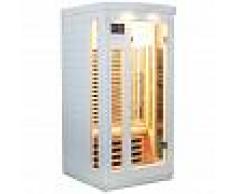 SNÖ Sauna infrarouge blanc panneaux carbone 1500W 1 place - SNÖ