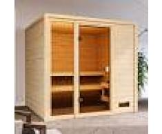 WoodFeeling Sauna traditionnel Jutta 3 à 4 places 38mm - Woodfeeling