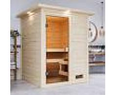 WoodFeeling Sauna traditionnel Sandra 2 à 3 places 38mm - Woodfeeling