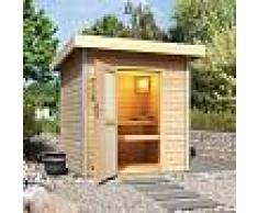 Karibu Sauna d'extérieur TORGE 3 à 4 places 38mm avec porte opaque KARIBU