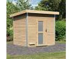 Karibu Sauna d'extérieur Norge en bois massif 38mm porte opaque 6 à 8 places Karibu