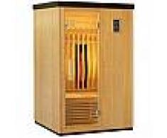 Sauna infrarouge chauffages carbone et full spectrum Vertical Black 2100W 2 places - SNÖ