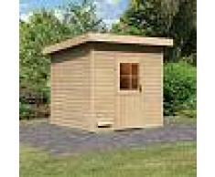 WoodFeeling Sauna d'extérieur KRISTINA en bois massif 38mm 7 à 8 places Woodfeeling