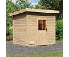 WoodFeeling Sauna d'extérieur NELLA en bois massif 38mm 6 à 7 places Woodfeeling