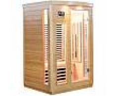 Sauna infrarouge panneaux carbone 2050W 2 places - SNÖ