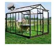 ACD Serre de jardin 6,97m² en verre trempé 4mm Victorian Plus + embase - ROYAL
