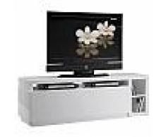 Meuble TV / Hifi LCD Plasma pivotant laque blanche