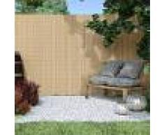 Jarolift Canisse en PVC Premium, largeur des lamelles 17 mm, Bambou, 100x300 cm