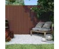 Jarolift Canisse en PVC Premium, largeur des lamelles 17 mm, Brun, 100x500 cm