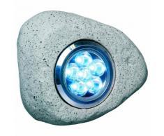 Smartwares Spot LED de jardin Fausse pierre 3 pcs 2,7 W Gris RS306
