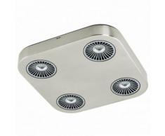 EGLO - Spot plafond LED Montale L28,5 cm - Nickel mat