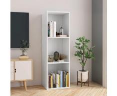 vidaXL Bibliothèque/Meuble TV Blanc 36 x 30 x 114 cm Aggloméré