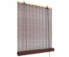vidaXL Store roulant en bambou 150 x 220 cm Marron foncé
