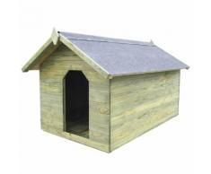 vidaXL Niche de jardin avec toit ouvrant pour chien Pin imprégné FSC
