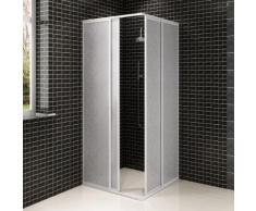 vidaXL Cabine de douche en aluminium 80 x 80 cm
