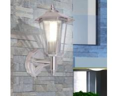 vidaXL Lampe murale extérieure Acier inoxydable