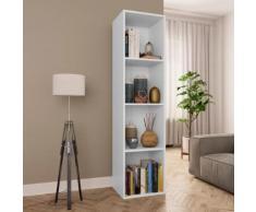 vidaXL Bibliothèque/Meuble TV Blanc 36 x 30 x 143 cm Aggloméré