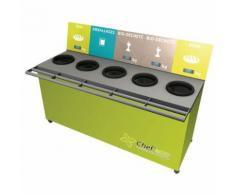table de tri 5 collecteurs 3 pesées t enfant h. 600 mm vert,