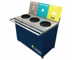 table de tri 3 collecteurs sans pesée t enfant h. 760mm bleu,