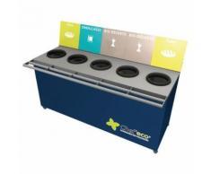table de tri 5 collecteurs sans pesée t enfant h.760 mm bleu,