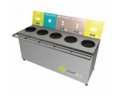 table de tri 5 collecteurs 3 pesées t enfant h. 600 mm gris,