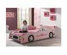 Lit voiture design princesse rose
