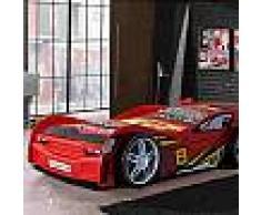 Lit voiture 90x200 cm rouge - CARINO