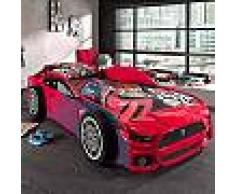 Lit voiture panthere 90x200 cm rouge - CARINO