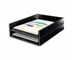 Corbeille à courrier Leitz Dual - L26,7 x H4,9 x P33,6 cm - noire/anthracite métallisé - Lot de 4