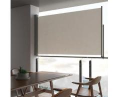 vidaXL Auvent latéral rétractable de patio 140 x 300 cm Blanc cassé