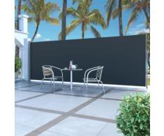 vidaXL Auvent latéral rétractable 160 x 500 cm Noir