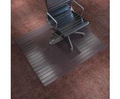 vidaXL Tapis protège-sol / chaise Bambou marron 90 x 120 cm